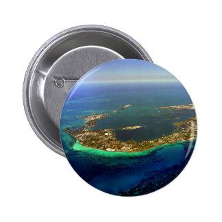 Bermuda Aerial Photograph Pinback Button