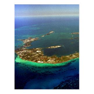 Bermuda Aerial Photograph Postcard
