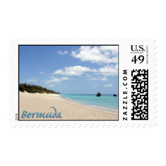 Bermuda Beach Postage Stamps