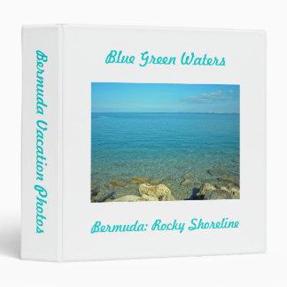 Bermuda Blue Green Waters 3 Ring Binder