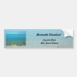 Bermuda Blue Green Waters Bumper Sticker