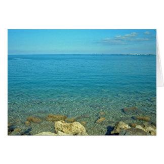 Bermuda Blue Green Waters Card