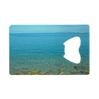 Bermuda Blue Green Waters Credit Card Bottle Opener