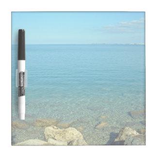 Bermuda Blue Green Waters Dry Erase Whiteboard