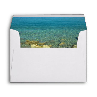 Bermuda Blue Green Waters Envelopes
