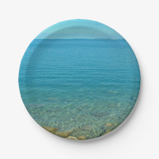 Bermuda Blue Green Waters Paper Plate
