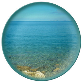 Bermuda Blue Green Waters Porcelain Plate