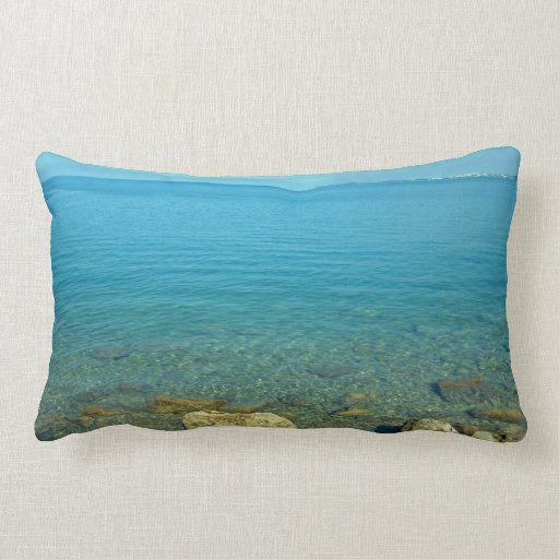 Bermuda:  Blue Green Waters Throw Pillows