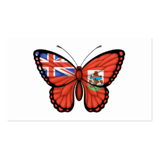 Bermuda Butterfly Flag Business Card Template