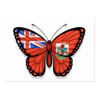 Bermuda Butterfly Flag Business Card
