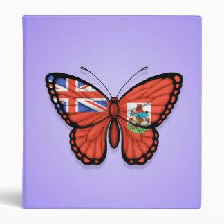 Bermuda Butterfly Flag on Purple Vinyl Binder