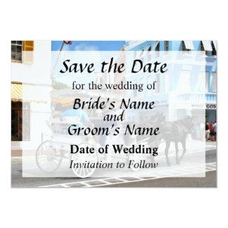 Bermuda - Carriage Ride in Hamilton Save the Date Card