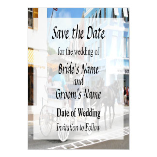 Bermuda - Carriage Ride in Hamilton Save the Date Magnetic Card