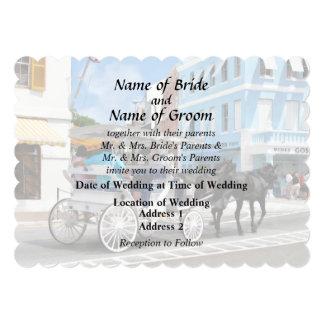 Bermuda - Carriage Ride in Hamilton Wedding Favors Card