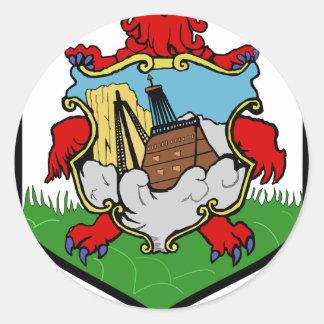 Bermuda Coat of Arms Round Sticker