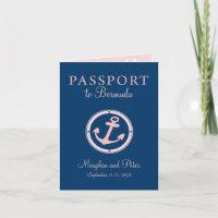 Bermuda Cruise Passport Wedding Invitation