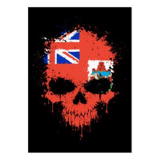 Bermuda Dripping Splatter Skull Business Card Template