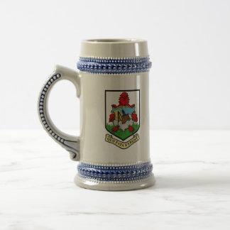 bermuda emblem beer stein