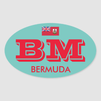 Bermuda - Euro-Style Oval Sticker