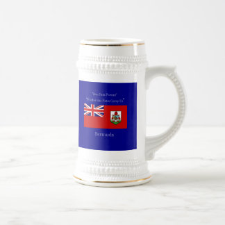 Bermuda Flag and Motto Beer Stein