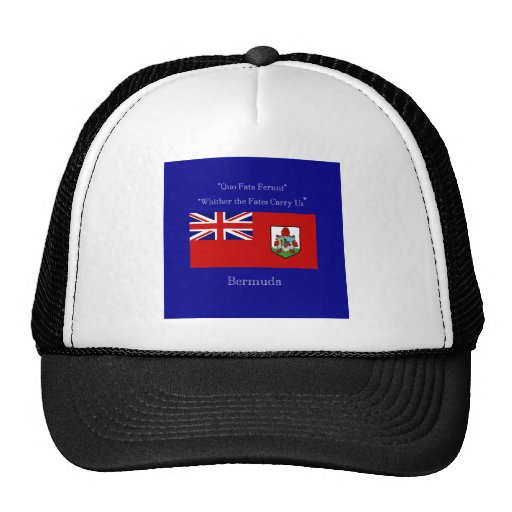 Bermuda Flag and Motto Hats