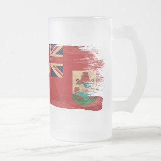 Bermuda Flag Frosted Glass Beer Mug