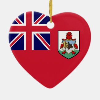 Bermuda Flag Heart Ornaments