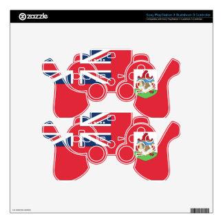 Bermuda Flag PS3 Controller Decal