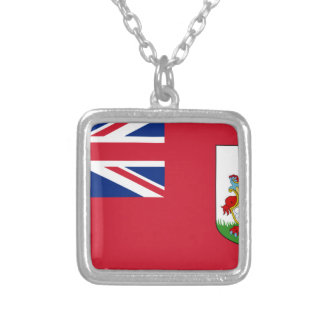 Bermuda Flag Silver Plated Necklace