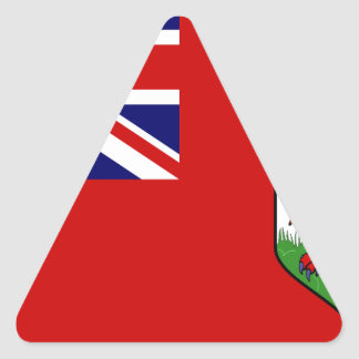 Bermuda Flag Triangle Sticker
