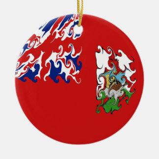 Bermuda Gnarly Flag Ceramic Ornament