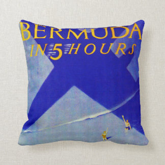 Bermuda in 5 hours throw pillow