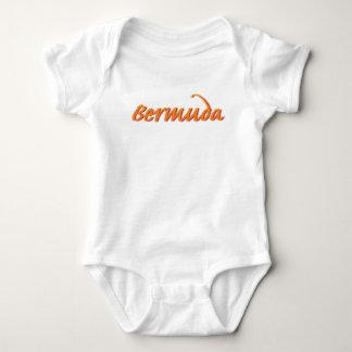 Bermuda in Orange Baby Bodysuit