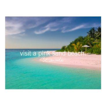 Bermuda Inspirational bucket list pink sand beach Postcard