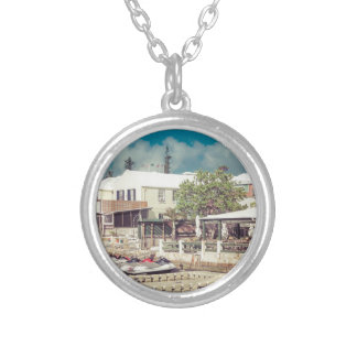Bermuda Jet ski Silver Plated Necklace