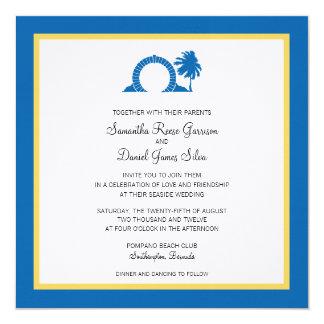 Bermuda Moongate Wedding Destination Custom Invite