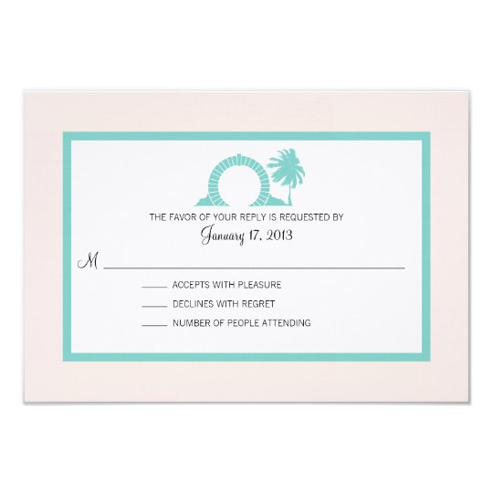 Bermuda Moongate Wedding Destination RSVP Card