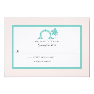 Bermuda Moongate Wedding Destination RSVP Card