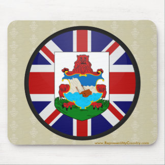 Bermuda quality Flag Circle Mouse Pad