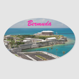 Bermuda Royal Naval Shipyard  Oval Sticker