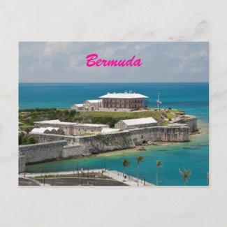 Bermuda Royal Naval Shipyard Postcard postcard