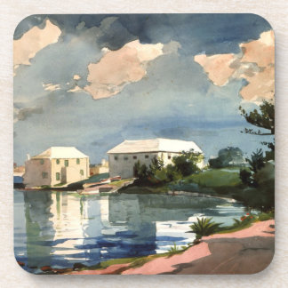 Bermuda, Salt Kettle artwork Drink Coaster