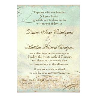 Bermuda Sea Turtle Modern Coastal Ocean Beach 5x7 Paper Invitation Card