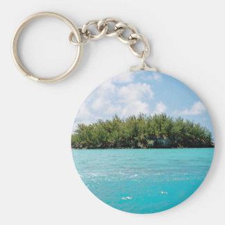 Bermuda Triangle Northern Tip Basic Round Button Keychain