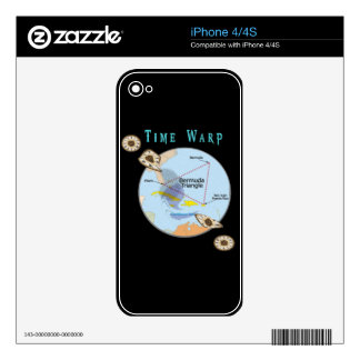 Bermuda triangle time warps decal for the iPhone 4S