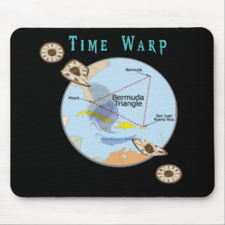 Bermuda triangle time warps mouse pad