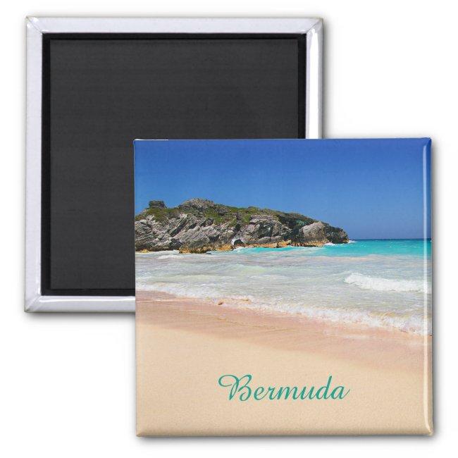 Bermuda Tropical Pink Sand BeachTravel Photo Magnet