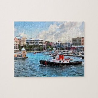 Bermuda - Tugboat Going Into Hamilton Harbour Jigsaw Puzzles