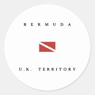 Bermuda United Kingdom Scuba Dive Flag Classic Round Sticker