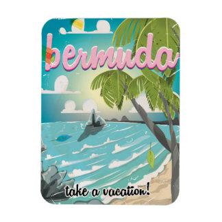 Bermuda vintage travel poster cartoon magnet